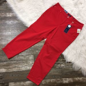 CHARTER CLUB Bristol Red Skinny Ankle Crop Jeans
